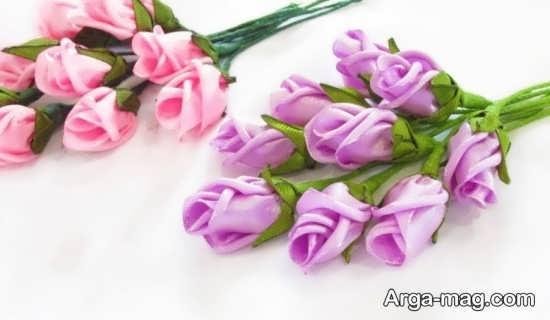 ساختن گل با روبان با طرحی منحصر به فرد