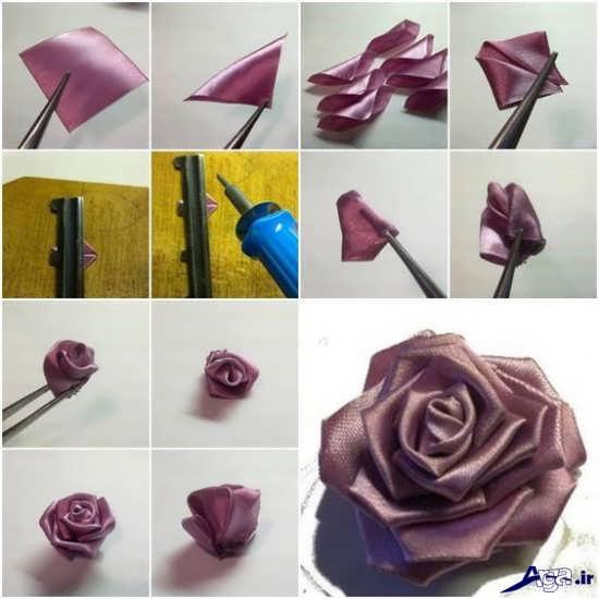 کاردستی گل با پارچه