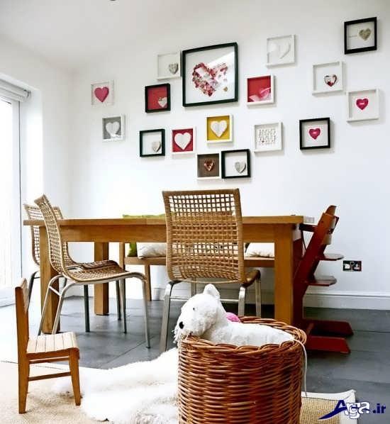 تزیین دیوار منزل با قاب عکس