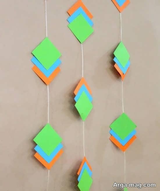 ایده زیبای دیزاین تولد با کاغذ رنگی