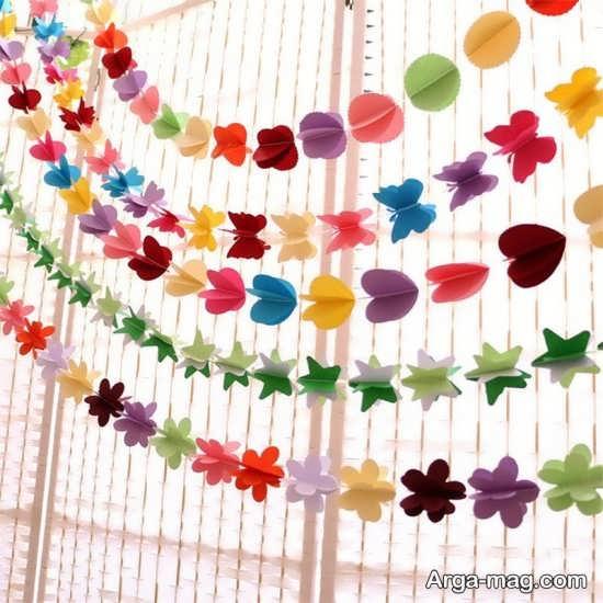 ایده تماشایی دیزاین تولد با کاغذ رنگی