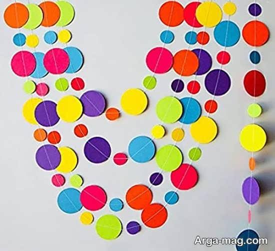 تزیینات ایده آل تولد با کاغذ رنگی