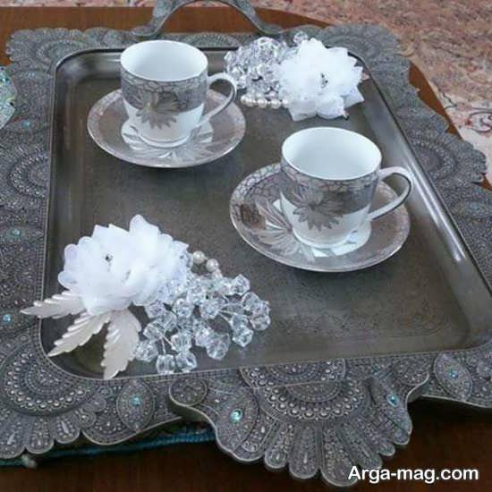 مدل تزیینات سینی چای