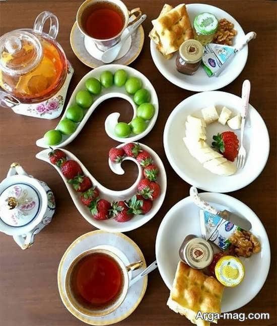تزیینات زیبای میز غذا