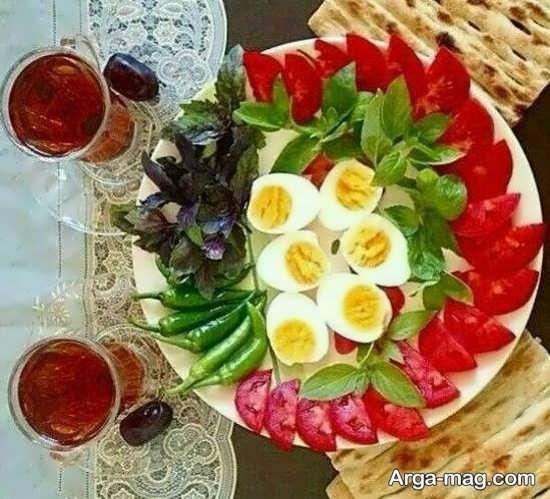 تصاویری از سفره آرایی میز غذا