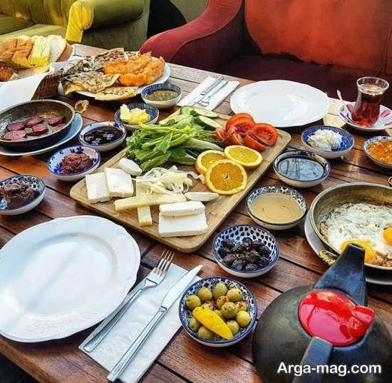 تزیینات متفاوت میز غذا