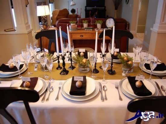 تزیین کردن میز غذاخوری