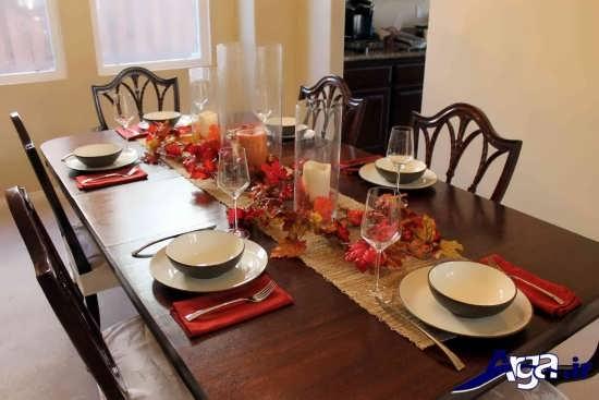 تزیین ساده میز غذا