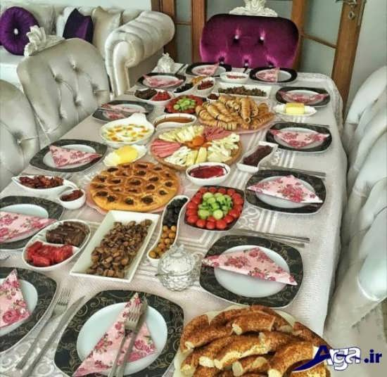 تزیین زیبا و جالب برای میز غذا