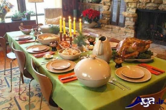 تزیین زیبا میز غذا