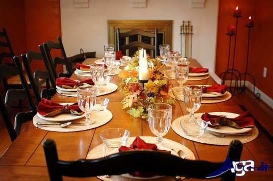 تزیین شیک و متفاوت میز غذا