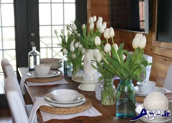 تزیین ساده و متفاوت میز غذا