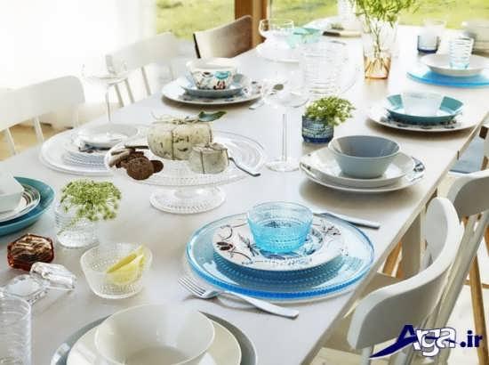 تزیین زیبا و متفاوت میز غذاخوری