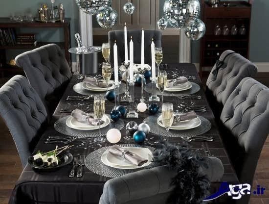 تزیین زیبا و شیک میز ناهار خوری