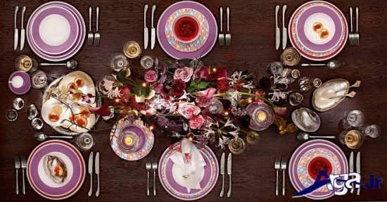 تزیین خلاقانه میز غذا