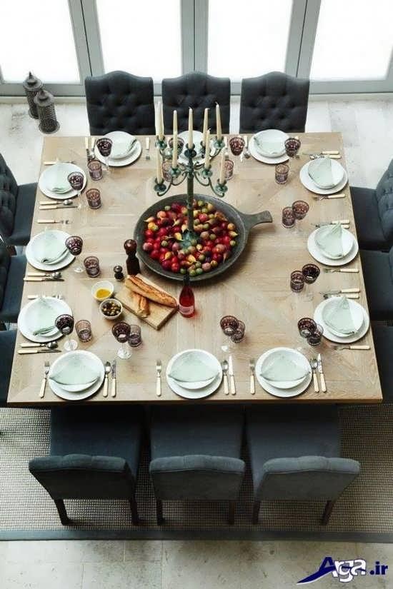 تزیین کردن میز غذا با کمک روش های زیبا
