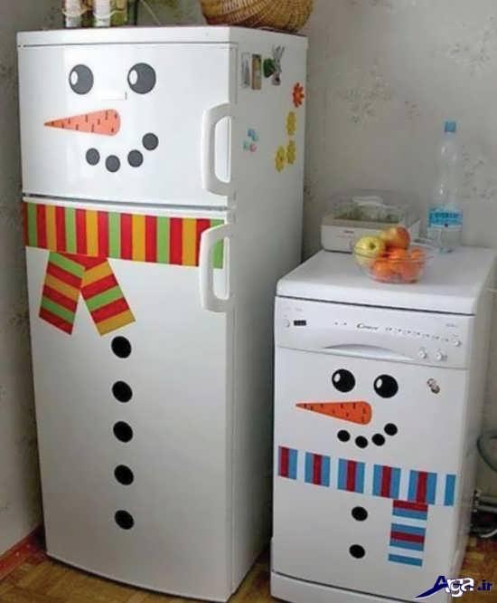 تزیین درب یخچال جدید و زیبا