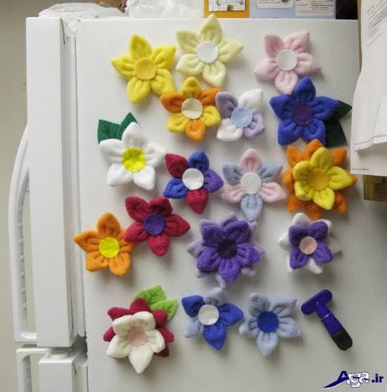 تزیین در یخچال و فریزر با گل