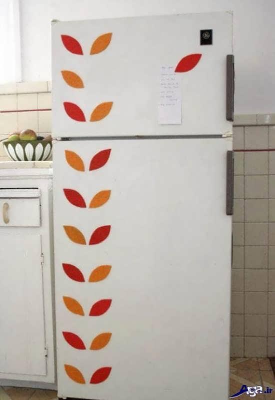 تزیین ساده درب یخچال