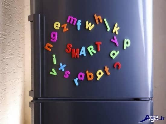 تزیین در یخچال با حروف انگلیسی