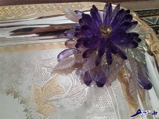تزیین سینی با گل های کریستالی