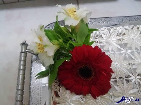 تزیین سینی با گل طبیعی برای خواستگاری