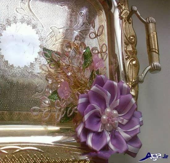 تزیین سینی چای با گل کریستالی
