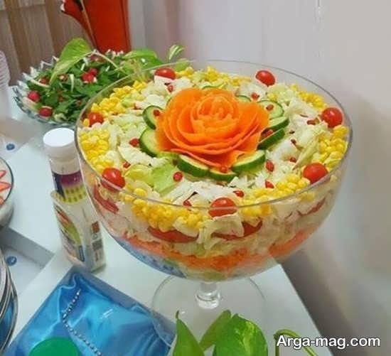تزیینات سالاد سبزیجات مجلسی