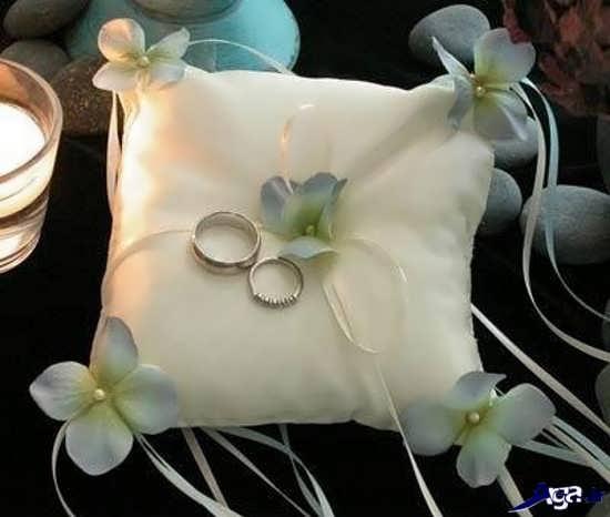 تزیین حلقه های عروسی