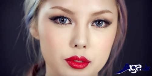 مدل آرایش ساده اروپایی