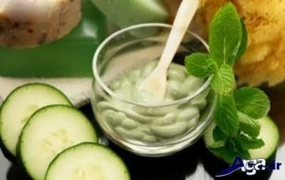 ماسک آب خیار برای درمان پوست های خشک