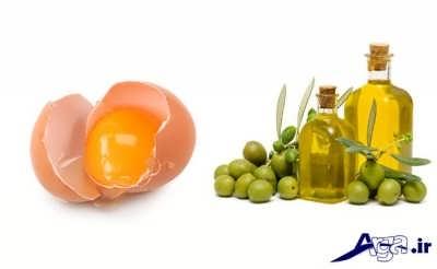 ماسک روغن زیتون و تخم مرغ
