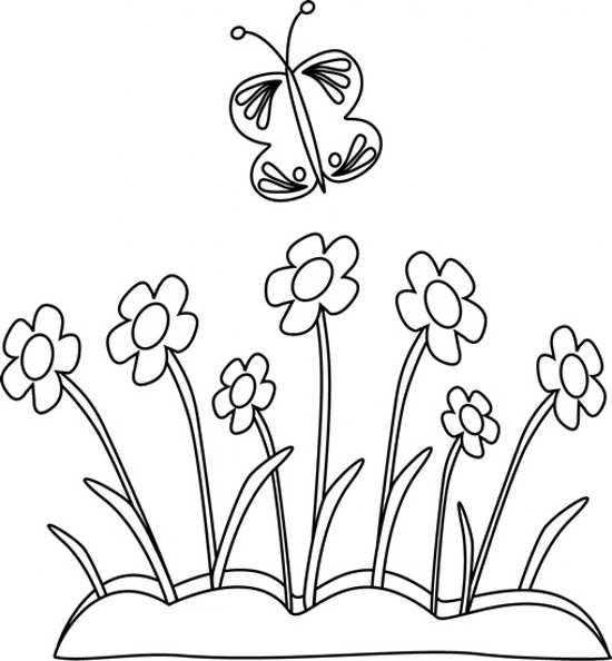نقاشی گل برای رنگ آمیزی کودکان