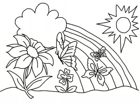 نقاشی گل برای کودکان دختر و پسر