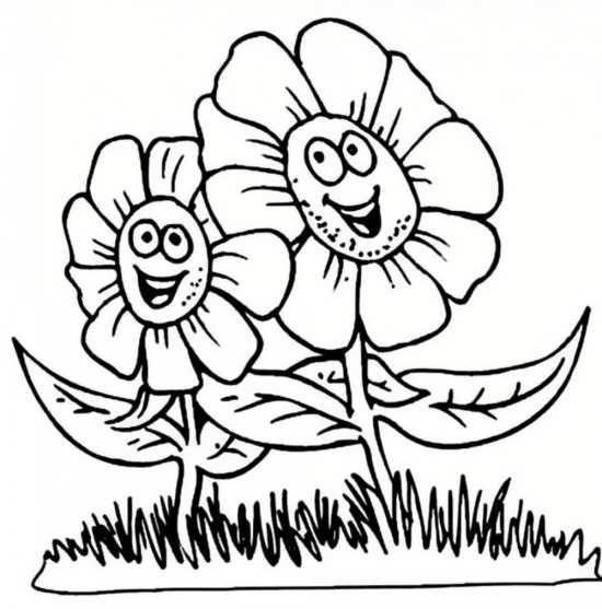 نقاشی گل آفتابگردان برای کودکان