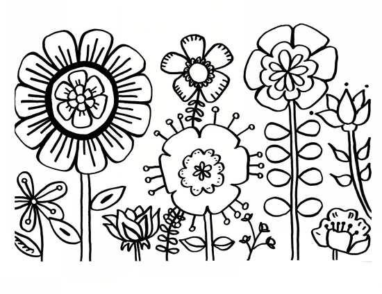 نقاشی گل برای کودکان با طرح های مختلف