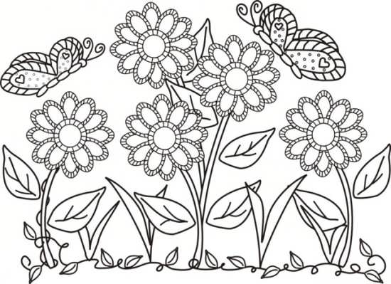 نقاشی گل برای کودکان با انواع رنگ آمیزی ها