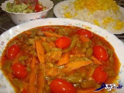 خورش لوبیا سبز