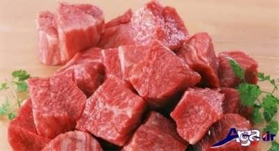 تکه کردن گوشت
