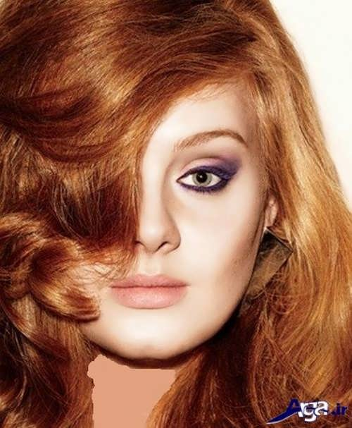 رنگ مو بیسکویتی زیبا