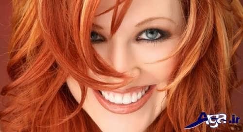 رنگ موی حنایی زنانه