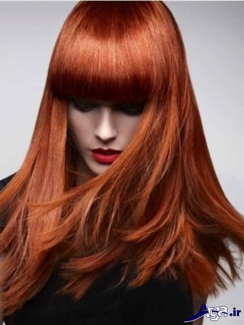 رنگ موی حنایی زیبا و متفاوت