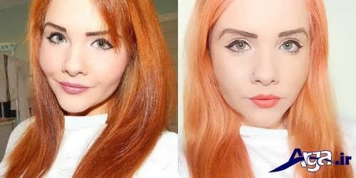 انواع مدل های رنگ مو حنایی زیبا و جذاب