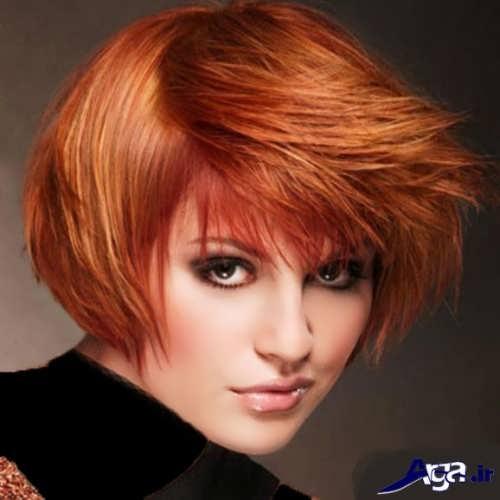 رنگ موی زیبا و متفاوت حنایی