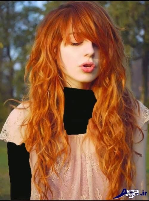 انواع مدل رنگ مو حنایی دخترانه