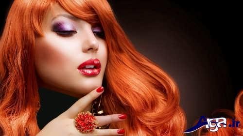 رنگ مو حنایی مخصوص خانم های زیبا و جذاب