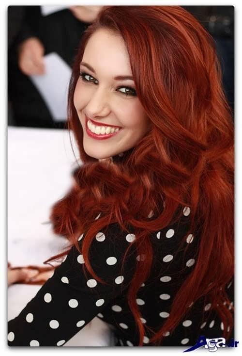 رنگ مو حنایی زیبا و جذاب