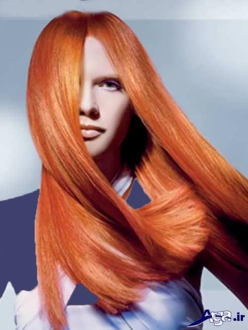 رنگ مو زیبا حنایی