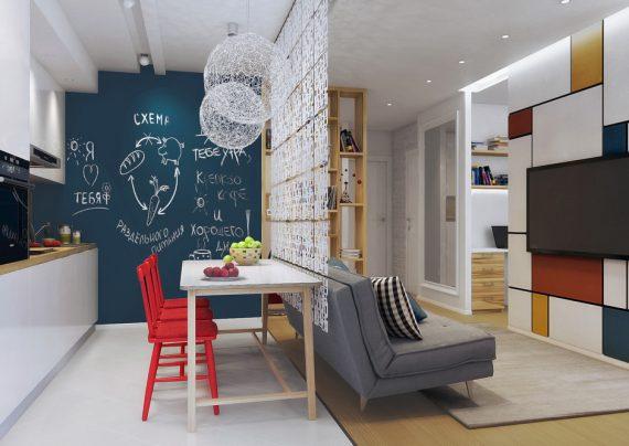 دکوراسیون خانه های 50 متری با طراحی های زیبا و کاربردی