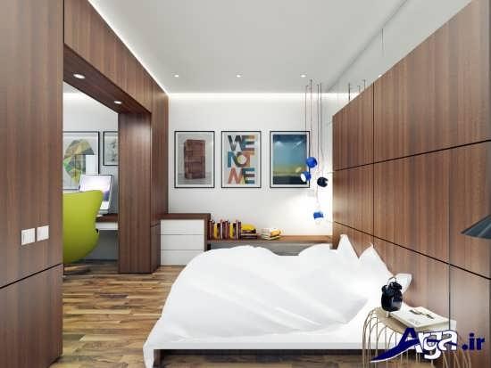 طراحی دکوراسیون شیک برای اتاق خواب دو نفره